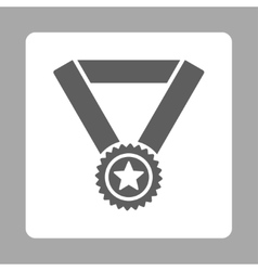 Winner medal icon from award buttons overcolor set vector