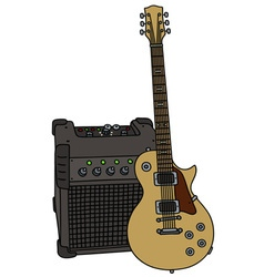Electric guitar and the combo vector image