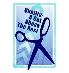 cut above the rest vector image