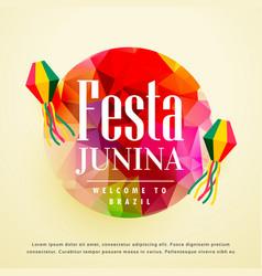 Festa junina latin american holiday background vector