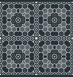 Abstract geometric monochrome futuristic pattern vector