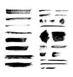 Grunge brush pack set vector