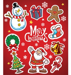 christmas set collection vector image