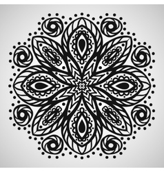 Beautiful ornament on white background vector