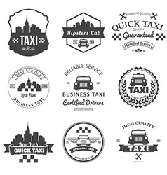 Set of taxi badges logos and labels vector image