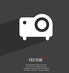 Projector icon symbol flat modern web design with vector
