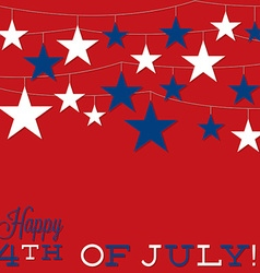 String of stars independence day card in format vector