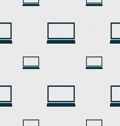 Laptop sign icon notebook pc symbol seamless vector