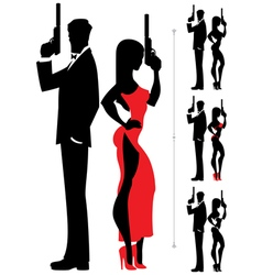 Spy Couple 3 vector image