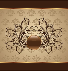Gold floral packing design element - vector