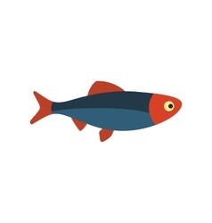 Fresh raw fish icon vector
