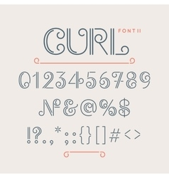 Numbers and extra characters for a font vector