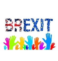 Brexit text isolated brexit cracks text isolated vector