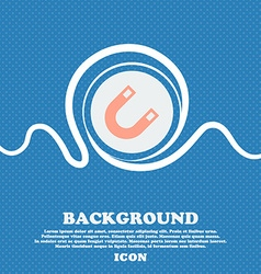 Magnet horseshoe sign icon blue and white abstract vector
