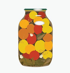 bank of yellow tomatoes2 vector image vector image