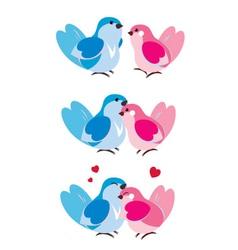 Bird hugging vector