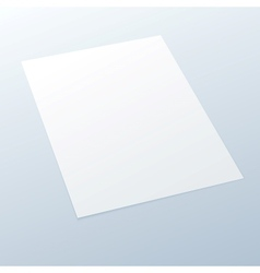 Blankempty A4 office paper on a light background vector image