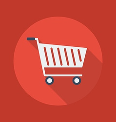 Business Flat Icon Cart vector image vector image