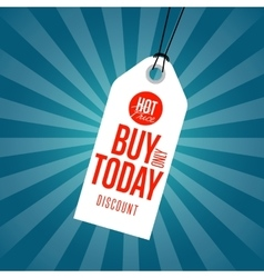 Buy only today discount sale sticker vector