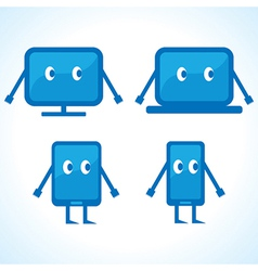 Cartoonish gadget designs stock vector image