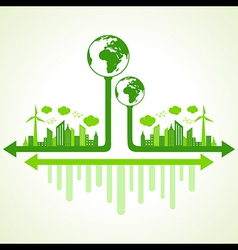 Ecology concept with eco earth vector image vector image