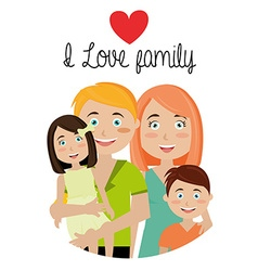 family and home vector image vector image
