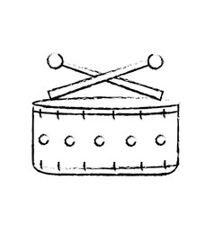 Figure snare drum musical instrument to play music vector