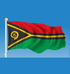 Flag of vanuatu vector