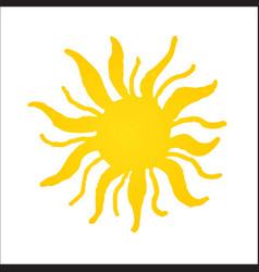 hand drawn shinny sun vector image vector image