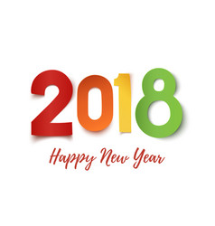 Happy new year 2018 greeting card template vector