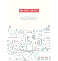 Medical concept - line design brochure poster vector