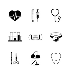 Medical pictogram collection vector