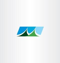 mountain icon symbol design sign vector image vector image