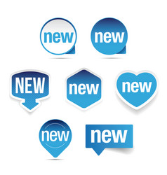 new label set sticker vector image