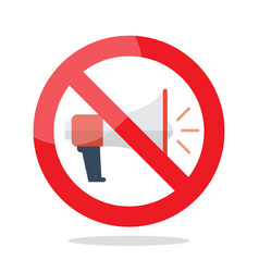no megaphone prohibition sign vector image vector image