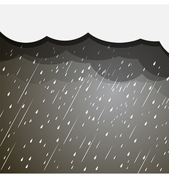 rain clouds vector image