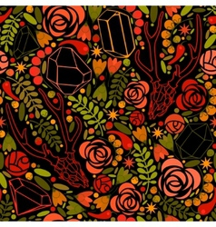 Retro background with crystals roses and spices vector