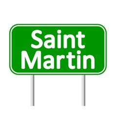 Saint-martin road sign vector