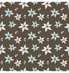 seamless pattern with flowers and dots vector image vector image