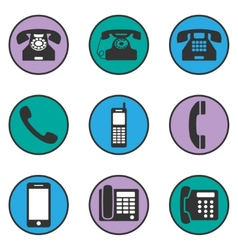 Set of different phone icons vector image vector image