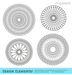 Set of geometric hipster shapes and logotypes6547 vector image