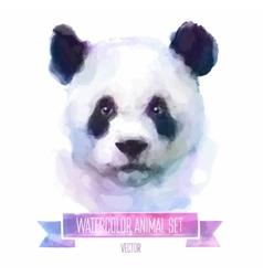 set of watercolor Cute panda vector image vector image