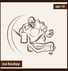 shows a hockey vector image vector image