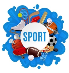 Sport Equipment Concept vector image vector image