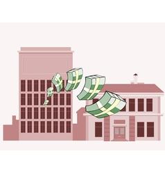 stacks of money flying vector image vector image