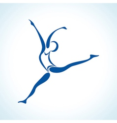 Stylized yoga pose vector