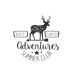 Summer Club Adventures Vintage Emblem vector image