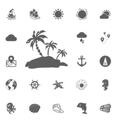 palms icon vector image