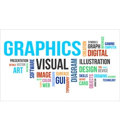 Word cloud graphics vector
