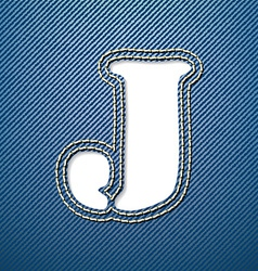 Denim jeans letter j vector